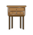 wooden table cabinet furniture decoration image vector image vector image
