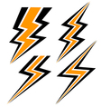 yellow and black lightning vector image vector image