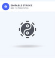 yin yang icon filled flat sign solid vector image vector image
