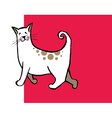 Cute curly tail cat vector image