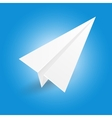 origami paper airplane vector image