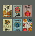 collection of autumn cards vector image