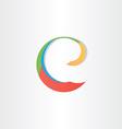 colorful letter e symbol vector image
