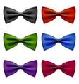 Bow tie colors vintage set vector image