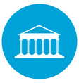 isolated law building vector image