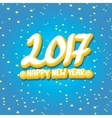 2017 Happy new year creative design background vector image