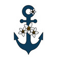 anchor ship isolated icon vector image vector image