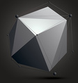 Asymmetric 3D abstract construction with black and vector image vector image