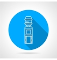 Automatic cooler blue round icon vector image vector image