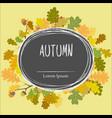 Autumn frame background wreath of autumn leaves