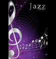 banner or poster for jazz music concert vector image vector image