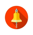 Bell marine flat icon with long shadow vector image vector image