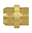 bronze pipe fitting double sided vector image vector image