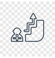 career concept linear icon isolated on vector image