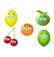 Cartoon Fruit Set 9 vector image