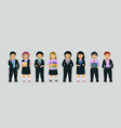 children in business suit vector image vector image