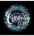 Christmas Snowflakes Wreath vector image