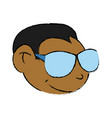 cool guy cartoon vector image vector image