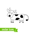 Cow icon 2 vector image vector image