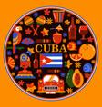 cuba havana round banner vector image vector image