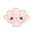 cute shell kawaii character vector image