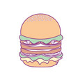 delicious hamburger fast food meal vector image vector image