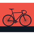 detailed bike silhouette vector image vector image