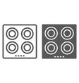 electric hot plate line and glyph icon kitchen vector image vector image