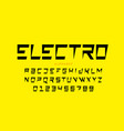 electric style font vector image vector image