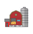 farm line icon concept farm flat sign vector image