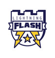 flash lightning logo template badge vector image vector image