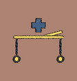flat shading style icon medical stretcher with vector image vector image