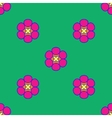 Flowers geometric seamless pattern 204 vector image vector image