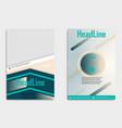 flyer template design for business brochure vector image vector image