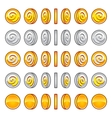 Game coins rotation set vector image