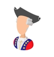George Washington costume cartoon icon vector image