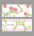gift card in pink shades vector image vector image