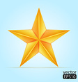 Gold star vector image