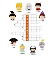 Halloween crossword puzzle for kids vector image vector image