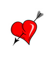 heart with arrow vector image vector image