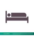 hotel motel bed icon logo template design eps 10