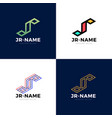 jr monogram logo inspirations set letters logo vector image vector image