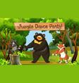 jungle dance park scene vector image vector image