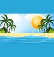 landscape background design seaside at day time vector image vector image