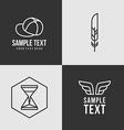 Line Art Badge or Logo Template Thin Line Graphic vector image vector image