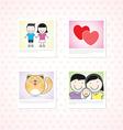 Love photo memories vector image