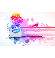 mail icon with floral and splash vector image vector image