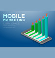 mobile marketing concept pictogram man icon red vector image