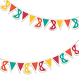 Multicolored buntings with carnival masks isolated vector image