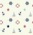 nautical theme seamless background vector image
